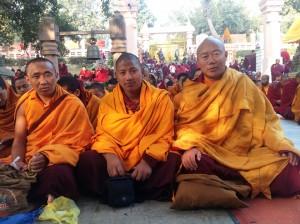 Lama and monks at Bodhgaya