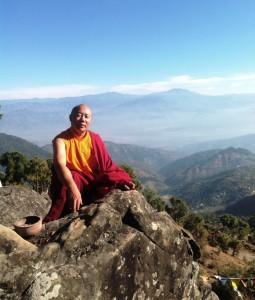 Lama on Retreat in India